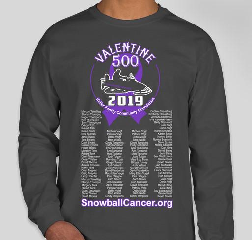 SnowballCancer.org Show your support for those battling cancer! Fundraiser - unisex shirt design - front