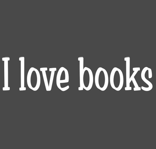 I love books shirt design - zoomed