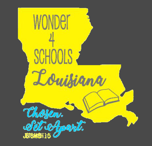 Wonder 4 Schools-Louisiana 2nd Annual shirt design - zoomed