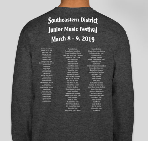SE Junior District Tee Shirts Fundraiser - unisex shirt design - back