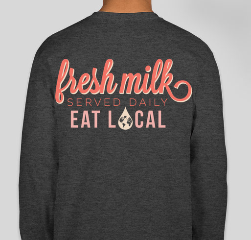 Fresh Milk Booster Fundraiser - unisex shirt design - back