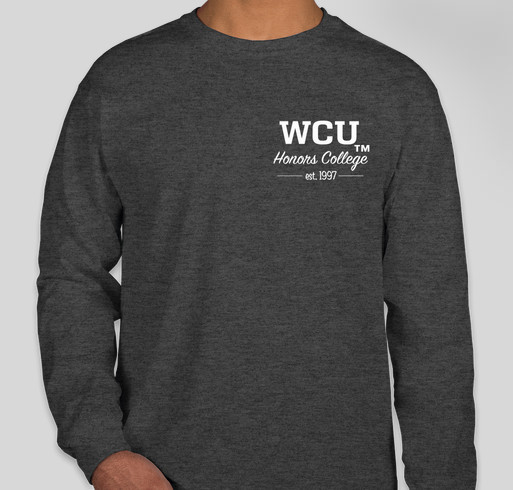 hot sales ad7b2 5c38e Western Carolina University Honors College Apparel Fundraiser - unisex shirt  design - front