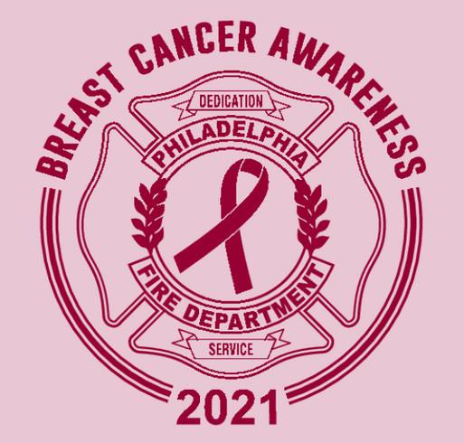 2021 Philadelphia Fire Department Breast Cancer Awareness Fundraiser shirt design - zoomed