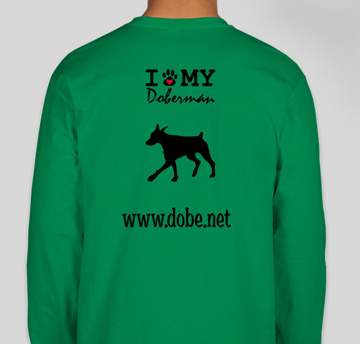 T-shirt fundraiser to help save Dobermans in the Metropolitian Washington DC area and parts of West Fundraiser - unisex shirt design - back