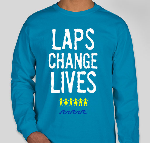Laps Change Lives! Mickey's Kids and the Summer 2016 SwimAThon Fundraiser - unisex shirt design - front