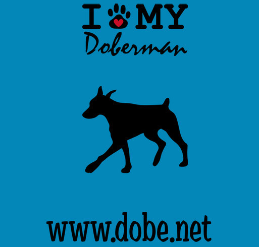 T-shirt fundraiser to help save Dobermans in the Metropolitian Washington DC area and parts of West shirt design - zoomed