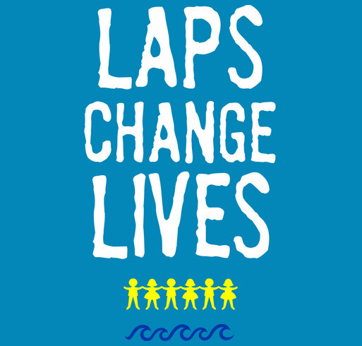 Laps Change Lives! Mickey's Kids and the Summer 2016 SwimAThon shirt design - zoomed