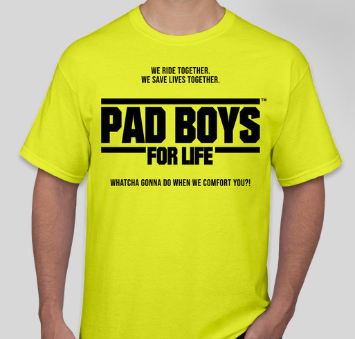 Get Your PAD BOYS GEAR and Help Us Get to the Gumball 3000 Fundraiser - unisex shirt design - front