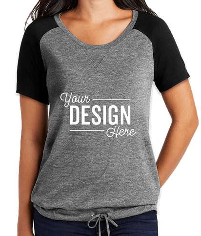New Era Women's Cinch Tri-Blend Performance Shirt - Shadow Grey / Black