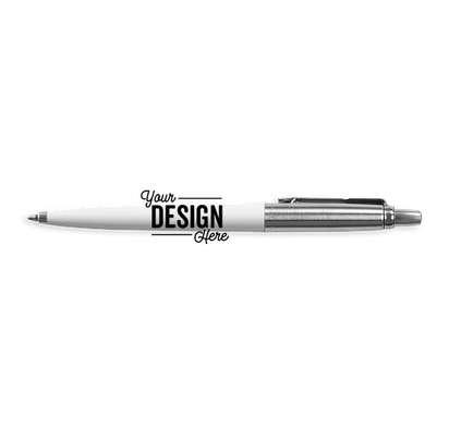 Parker Jotter Ballpoint Pen (black ink) - White