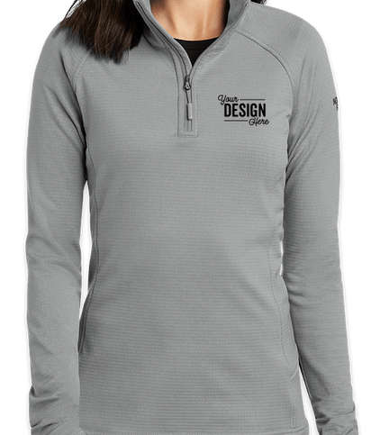 The North Face Women's Mountain Peaks Quarter Zip Fleece Pullover - Mid Grey