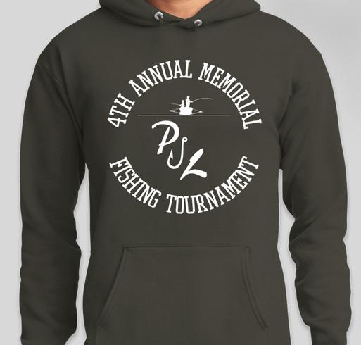 4th Annual Pauly J. Larson Memorial Fishing Tournament Fundraiser - unisex shirt design - front