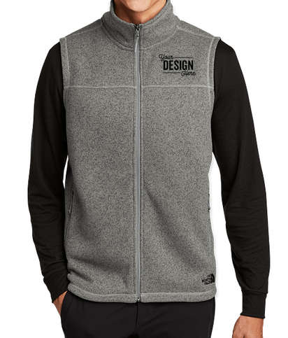 The North Face Sweater Fleece Vest - Medium Grey Heather