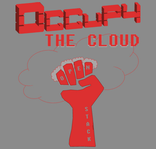 Occupy the Cloud [for Girls Who Code] shirt design - zoomed