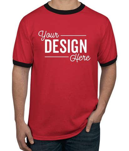 Augusta Ringer T-shirt - Red / Black