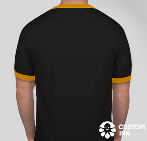 Augusta Ringer T-shirt — Black / Gold