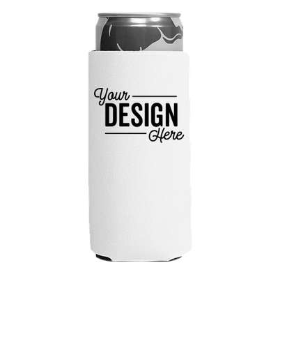 Foldable Slim Can Cooler - White