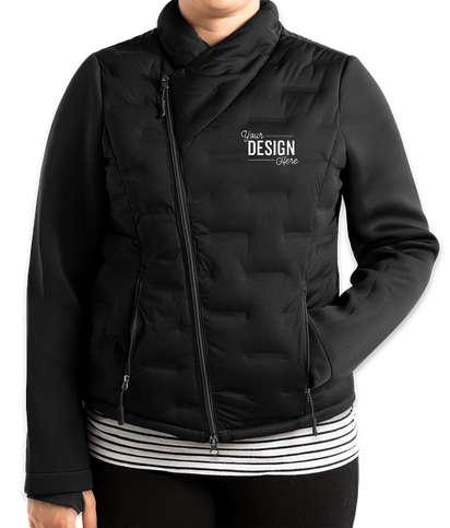 North End Women's Pioneer Hybrid Puffer Jacket - Black