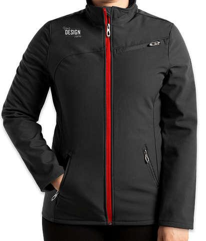 Spyder Women's Transport Soft Shell Jacket - Black / Red