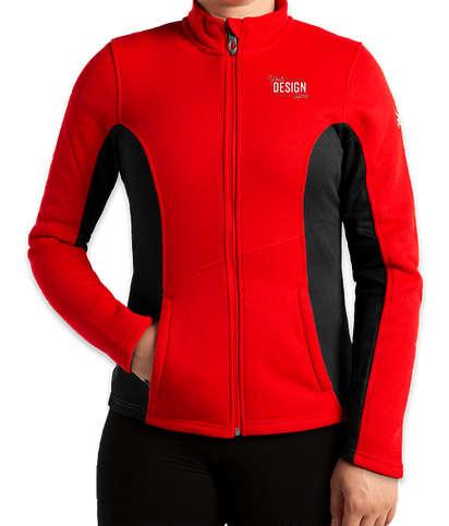 Spyder Women's Constant Sweater Fleece Jacket - Red / Black / White