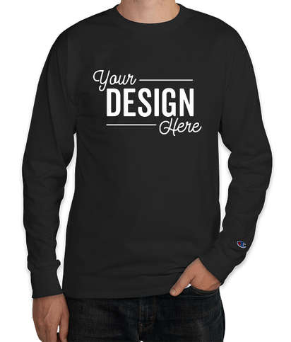 Champion Garment Dyed Long Sleeve T-shirt - Black
