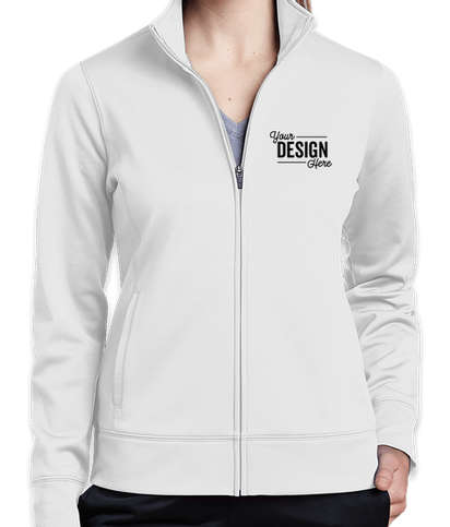 Sport-Tek Women's Sport-Wick Tech Fleece Full Zip Jacket - White
