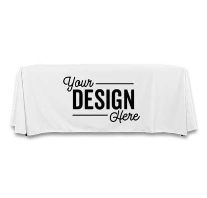 Full Color 8' Throw Tablecloth - White