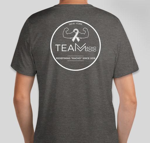 Team Macho Macho Movember Fundraising Month Fundraiser - unisex shirt design - back