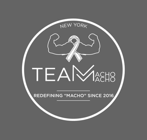 Team Macho Macho Movember Fundraising Month shirt design - zoomed