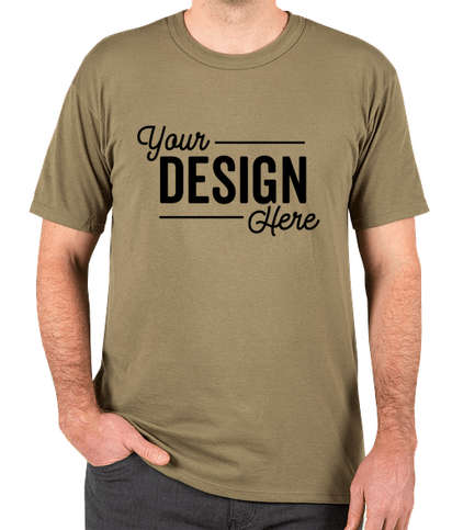Soffe Military USA-Made 100% Cotton T-shirt - Tan