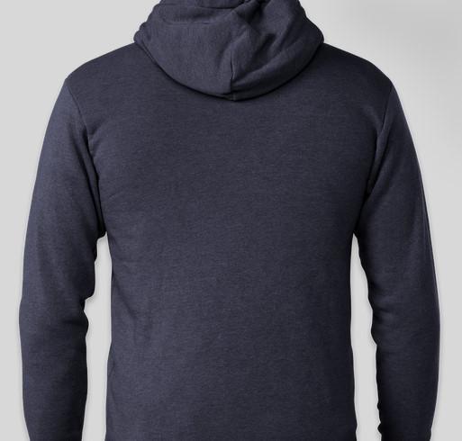 CDCK Dog-Cat-Dog Flag Zip Hoodies Fundraiser - unisex shirt design - back