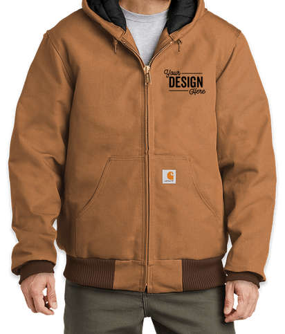 Carhartt Tall Water Repellent Flannel Lined Hooded Jacket - Carhartt Brown