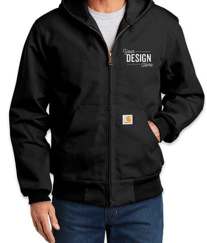 Carhartt Tall Thermal Lined Duck Active Jacket - Black