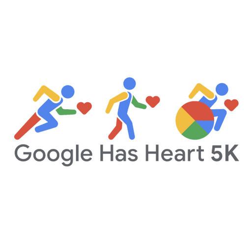 Google has Heart 5k shirt design - zoomed