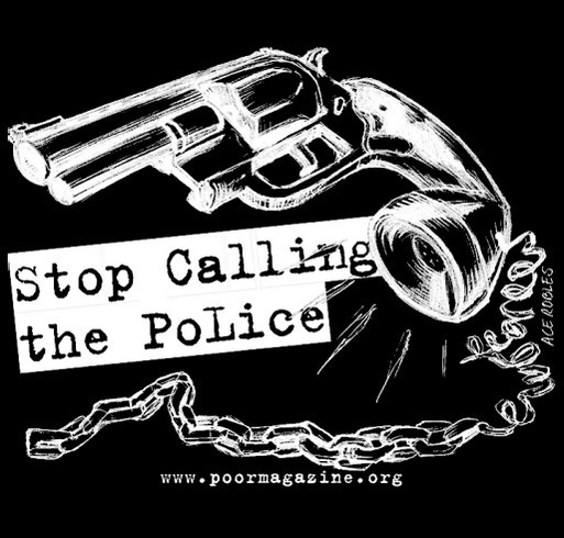 Support Black/Brown Youth in Poverty Reporting on PoLice Terror/Gun Violence shirt design - zoomed