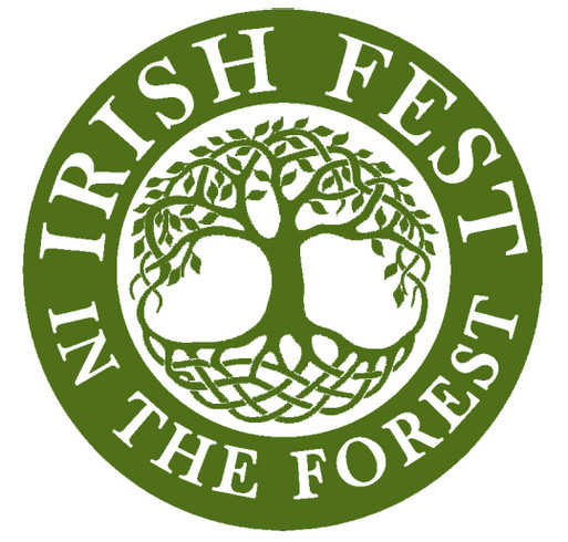 Irish Fest in the Forest shirt design - zoomed