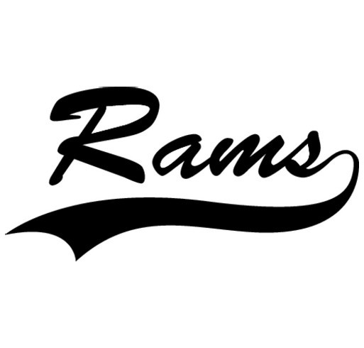 HHS Rams Cheerleading shirt design - zoomed