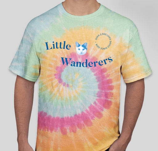 Little Wanderers Tie Dye T-Shirt Fundraiser Fundraiser - unisex shirt design - front