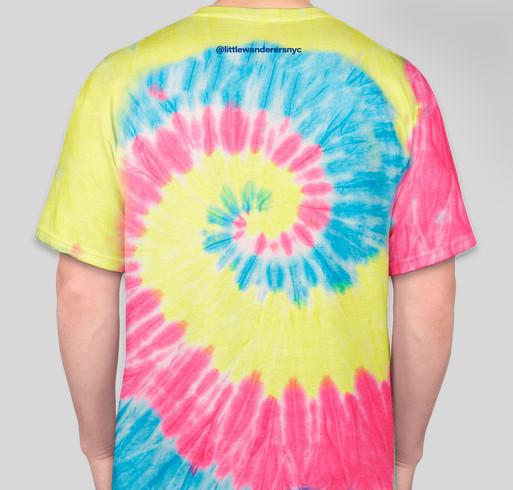 Little Wanderers Tie Dye T-Shirt Fundraiser Fundraiser - unisex shirt design - back