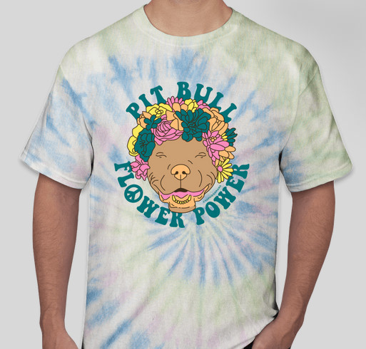 Rescue Road Trip / Pit Bull Flower Power Fundraiser - unisex shirt design - front