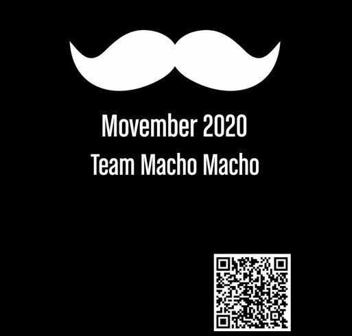 Movember 2020 Team Macho Macho shirt design - zoomed