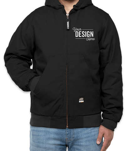 Berne Heritage Cotton Duck Hooded Jacket - Black