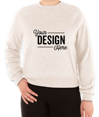 Alternative Apparel Women's Eco-Teddy Crewneck Sweatshirt - Eco Canvas