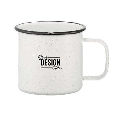 16 oz. Speckled Enamel Steel Mug - White