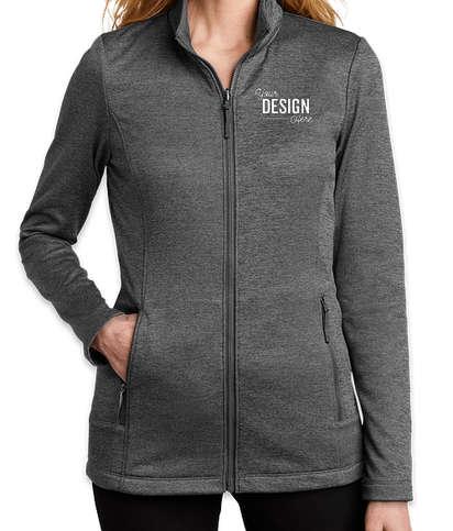Port Authority Women's Collective Striated Tech Fleece Jacket - Sterling Grey Heather