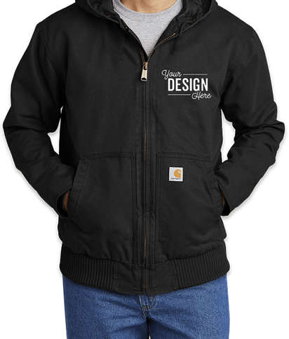 Carhartt Tall Washed Duck Active Jacket - Black