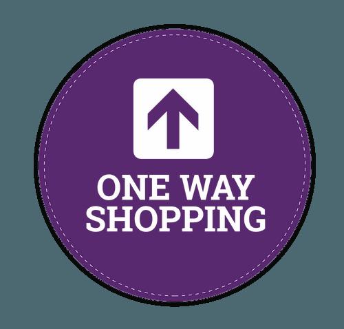 "One Way Shopping 12"" Circle Floor Decal - Team Purple"