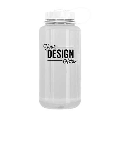 32 oz. Nalgene Tritan Wide Mouth Water Bottle - Clear / White