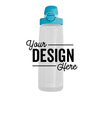 24 oz. Nalgene Tritan On-The-Fly Water Bottle - Clear / Glacial Blue