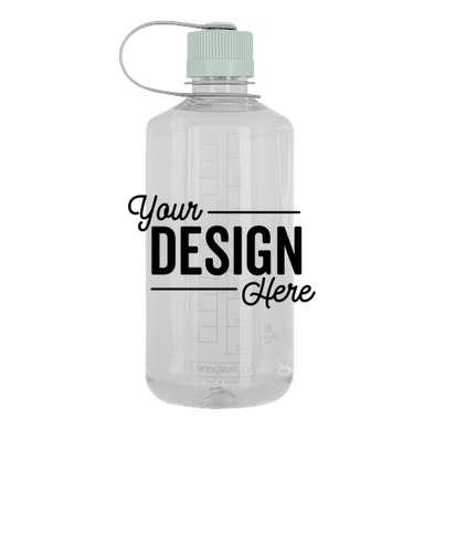 32 oz. Nalgene Tritan Narrow Mouth Water Bottle - Clear / Iridescent Platinum